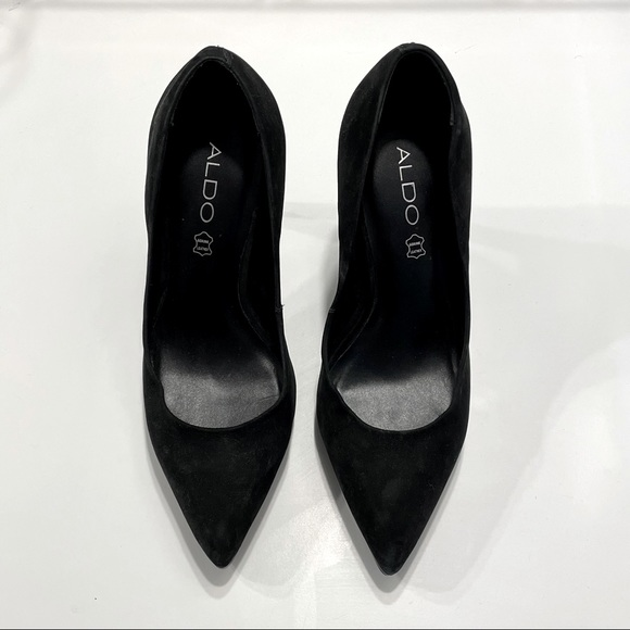 ALDO Black Suede Stiletto Heel
